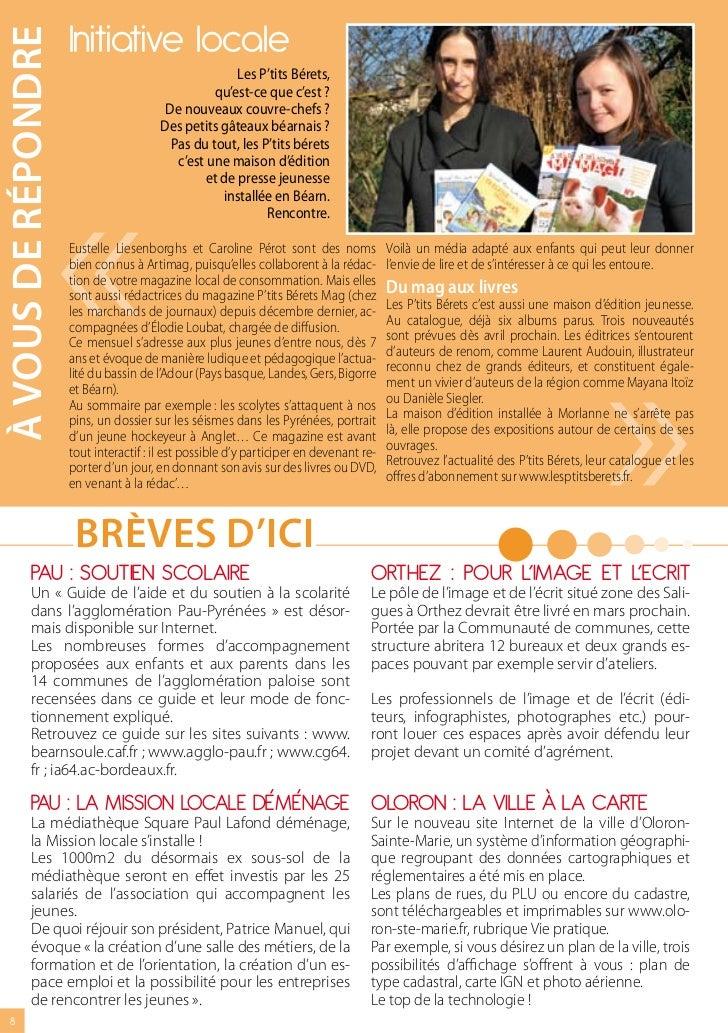 à vOus DE répONDrE   Initiative locale                                                     Les P'tits Bérets,             ...
