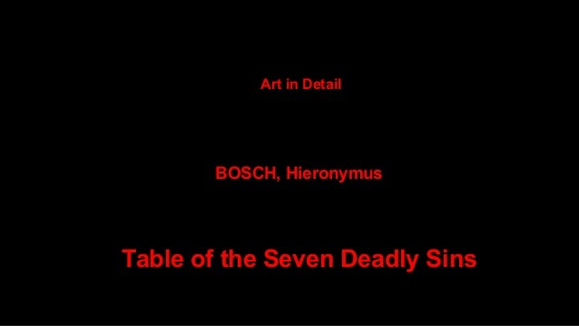 bosch deadly sins