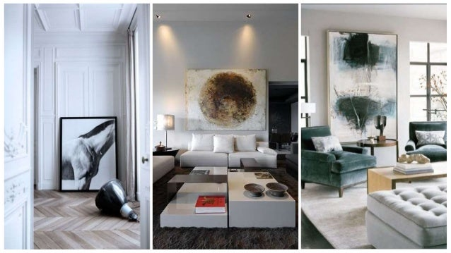 INTERIOR DESIGN WITH ABSTRACT PAINTINGS