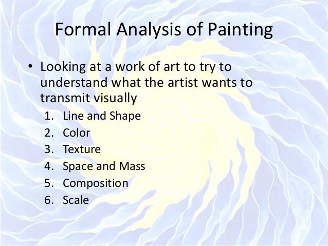 formal analysis of art in up