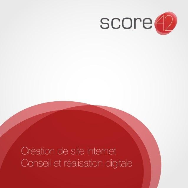 Création de site internet  Conseil et réalisation digitale