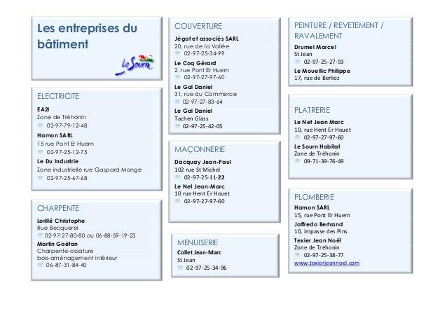 CHARPENTELorillé ChristopheRue Becquerel℡ 02-97-27-80-80 ou 06-88-59-19-23Martin GaëtanCharpente-ossaturebois-aménagement ...