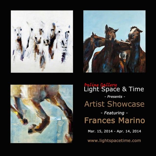 Artist Showcase - Frances Marino - Event Poster
