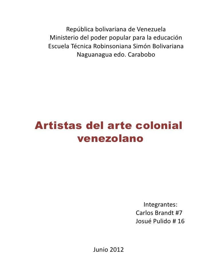 República bolivariana de Venezuela  Ministerio del poder popular para la educación  Escuela Técnica Robinsoniana Simón Bol...