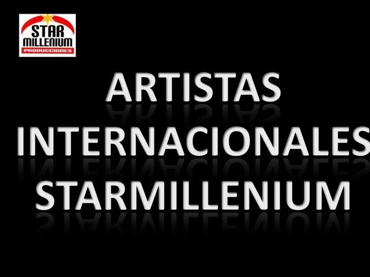 Artistas inter nacionales