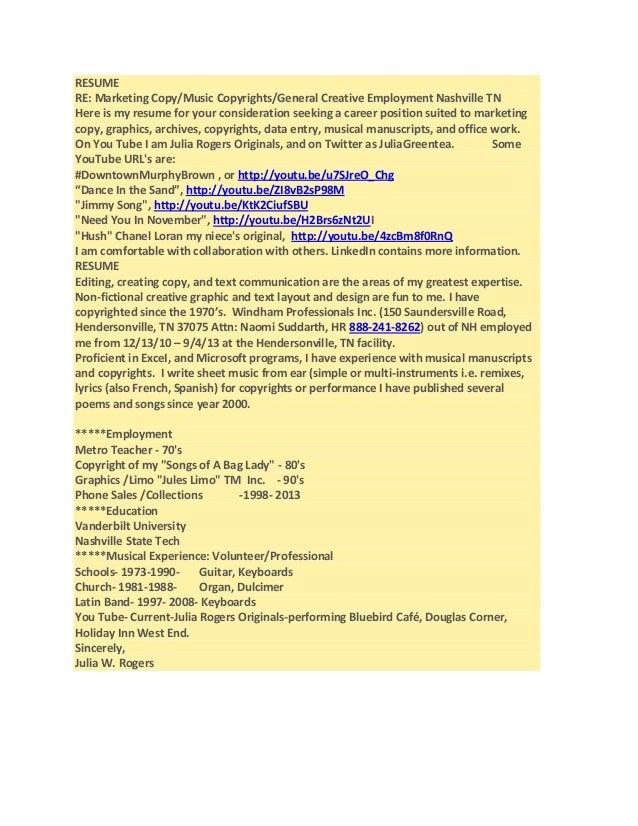 sample entry level copywriter resume
