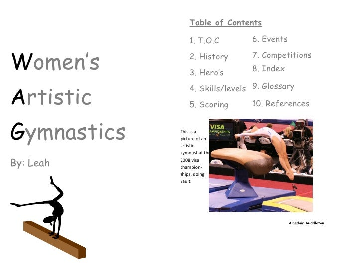 Table of Contents                   1. T.O.C        6. Events   Women's          2. History      7. Competitions          ...