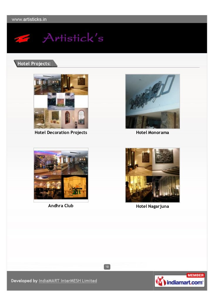 Hotel Projects:       Hotel Decoration Projects   Hotel Monorama             Andhra Club           Hotel Nagarjuna