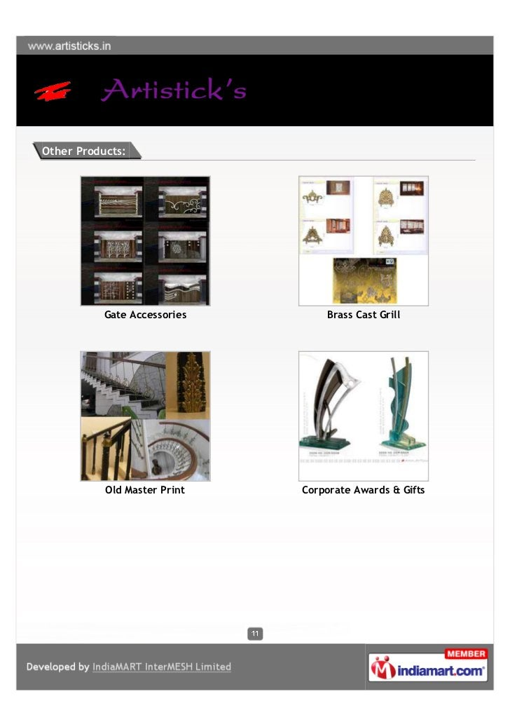 Other Products:           Gate Accessories       Brass Cast Grill           Old Master Print   Corporate Awards & Gifts