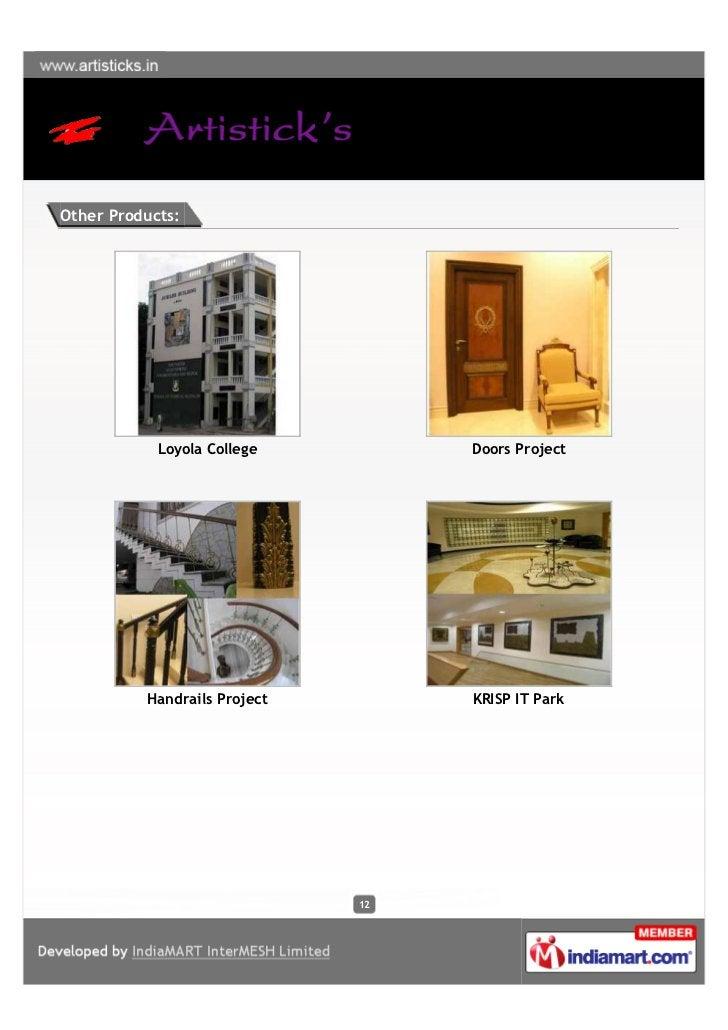 Other Products:            Loyola College         Doors Project          Handrails Project        KRISP IT Park           ...