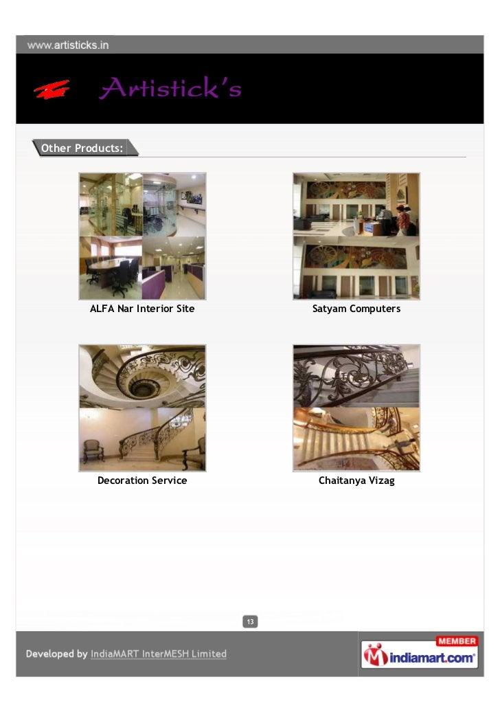 Other Products:        ALFA Nar Interior Site        Satyam Computers          Decoration Service           Chaitanya Viza...
