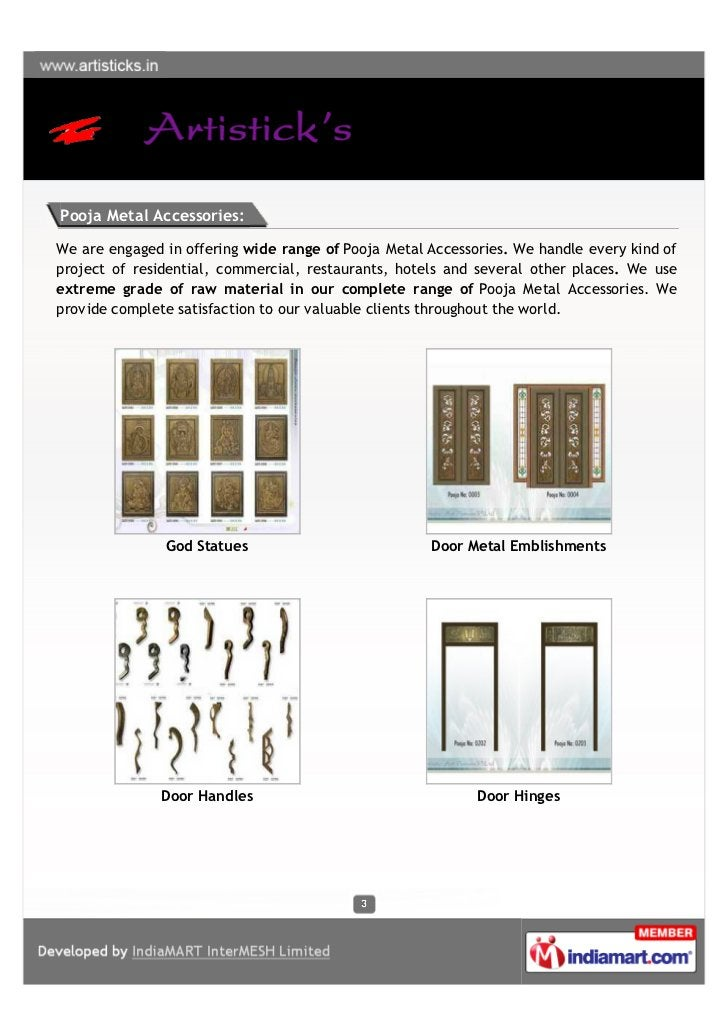 Pooja Metal Accessories:We are engaged in offering wide range of Pooja Metal Accessories. We handle every kind ofproject o...