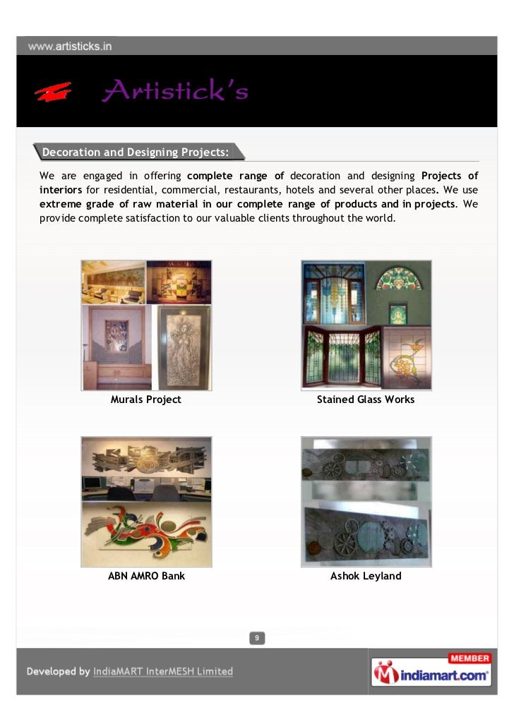 Decoration and Designing Projects:We are engaged in offering complete range of decoration and designing Projects ofinterio...