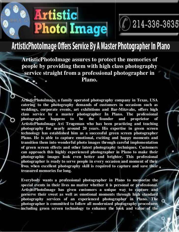 ArtisticPhotoImage assures to protect the memories ofpeople by providing them with high class photography service straight...