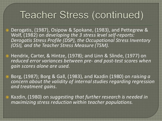 Artistic Youth vs. Teacher Stress