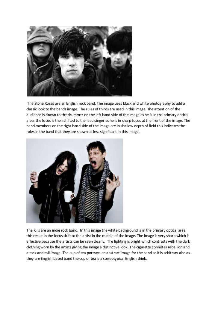 The Stone Roses are an English rock band. The image uses black and white photography to add aclassic look to the bands ima...