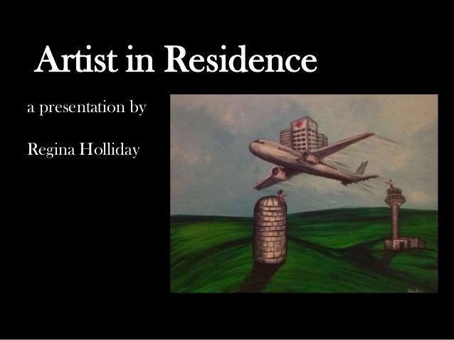 a presentation by Regina Holliday Artist in Residence