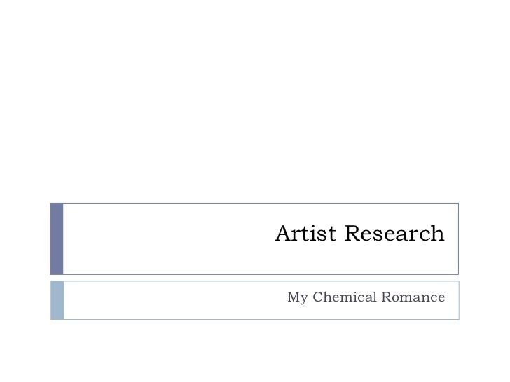 Artist Research My Chemical Romance