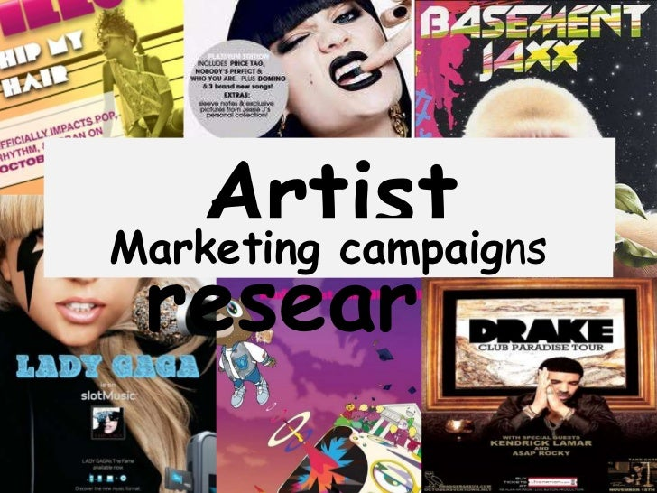 ArtistMarketing campaigns research