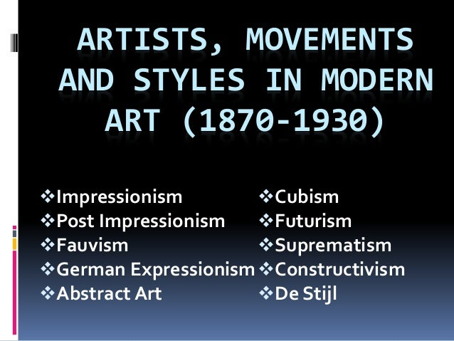 an analysis of the fauvism expressionism and cubism expressionism movements Some of this will serve as a summary of what we've covered this semester, but   one direction (fauvism and then german expressionism) was more  of cubist  paintings first-hand but there was no real cubist movement in this country.