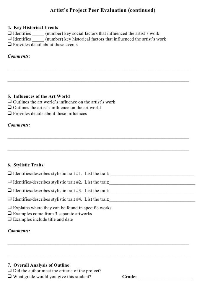 Artists project worksheets – Art Analysis Worksheet