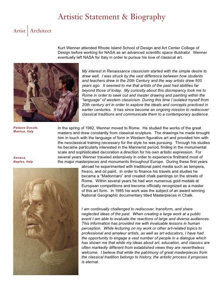 artist biography kurt wenner