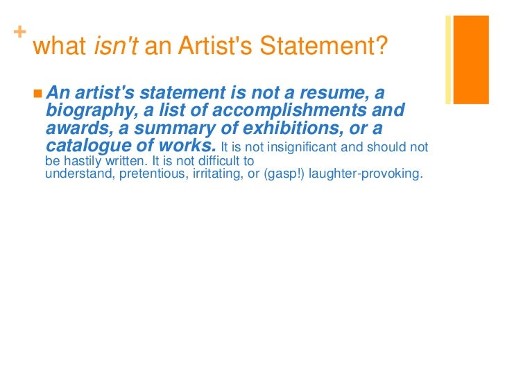 How to create a photography artist statement, bio, resume and CV