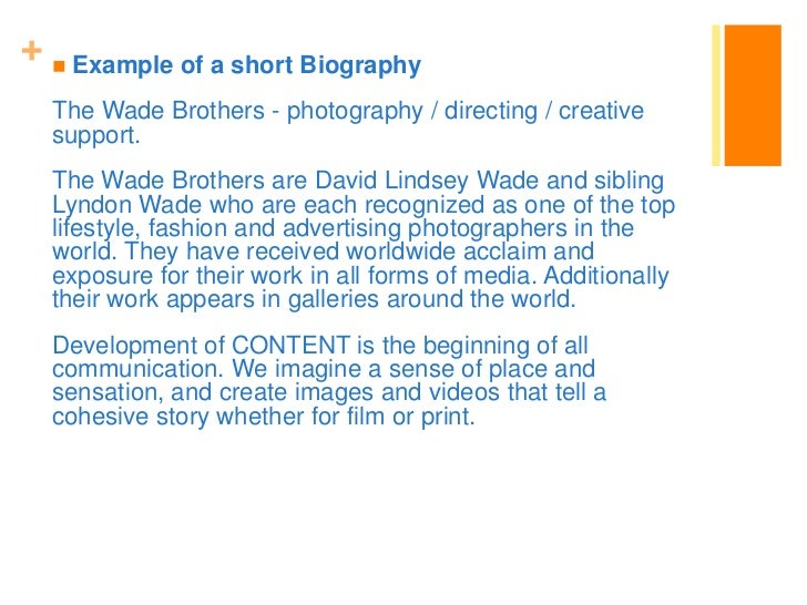 30 example of a short biography
