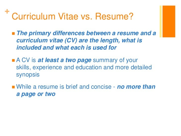 The CV Vs The Resume Which Should You Use A SLICE OF ADVICE How To Write  Is A Cv The Same As A Resume