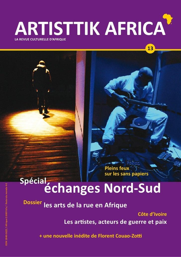 ARTISTTIK AFRICA n° 13 p.1                                                                            ARTISTTIK AFRICA    ...