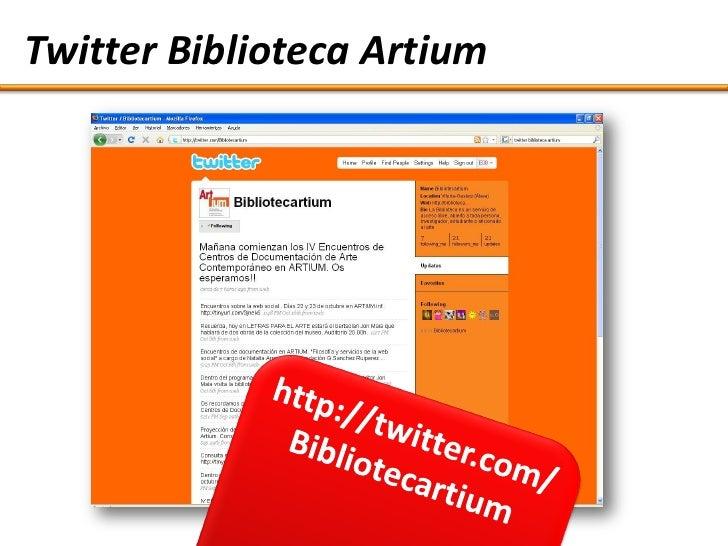 Twitter Biblioteca Artium