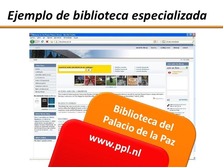 Ejemplo de biblioteca especializada