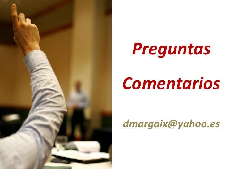 Publicación  Esta presentación con algunos ejemplos estará   disponible en el blog:
