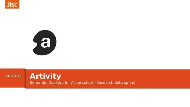 Semantic Desktop for Art practice - Research data spring Artivity14/7/2015