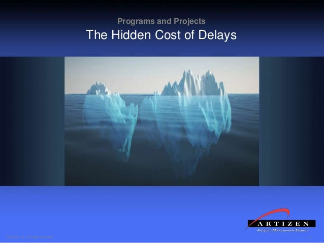 1© Artizen, Inc. All rights reserved. Programs and Projects The Hidden Cost of Delays
