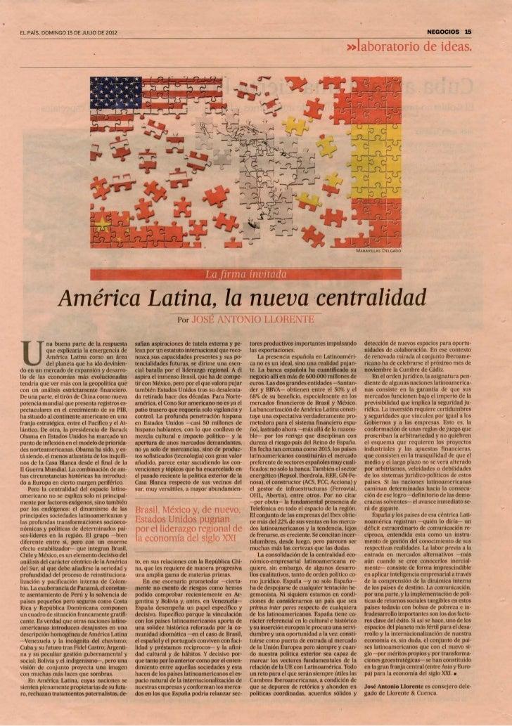 Artículo de José Antonio Llorente en El País