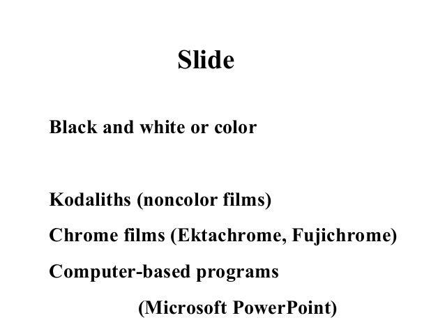 making a slide