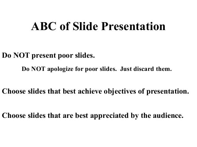 The Art of Making a Slide as a Visual Aid