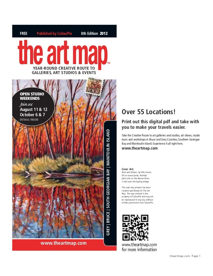 FREE        Published by ColourPix   8th Edition 2012the art map         YEAR-ROund CREAtivE ROutE tO         GAllERiEs, A...