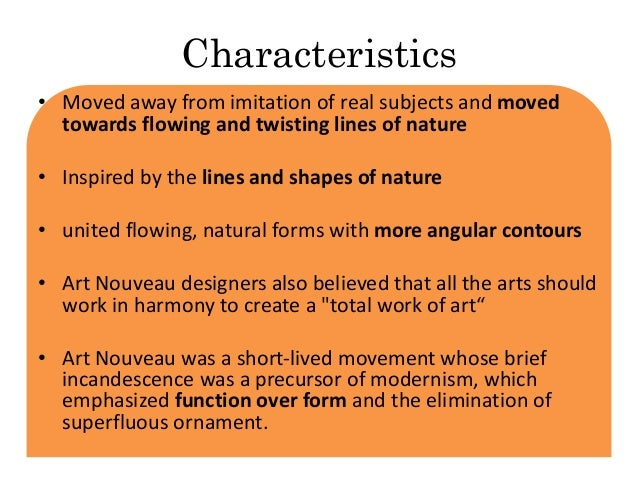 Characteristics Of Line In Art : Art nouveau