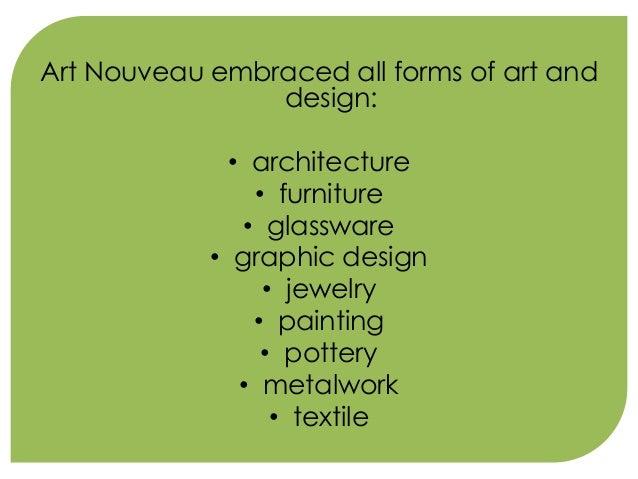 ARCHITECTURE FEATURES Art Nouveau