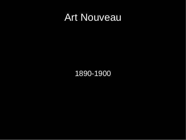 Art Nouveau 1890-1900