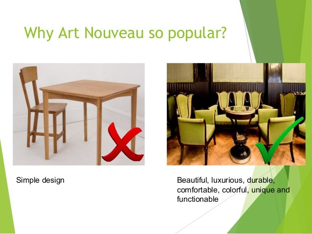 Art Nouveau Furniture Design