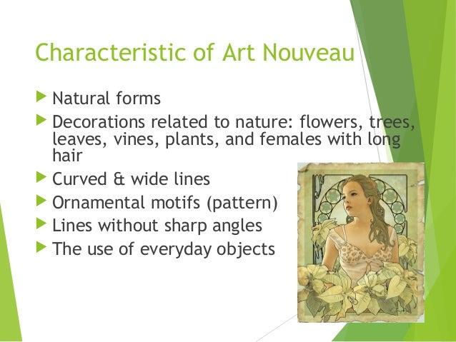 art nouveau characteristics