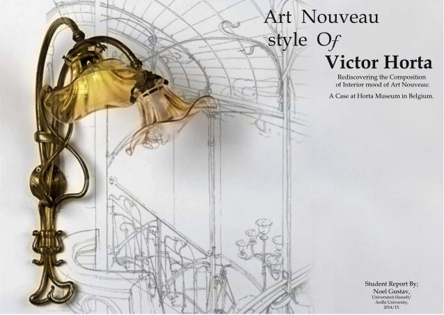 Art nouveau style of victor horta