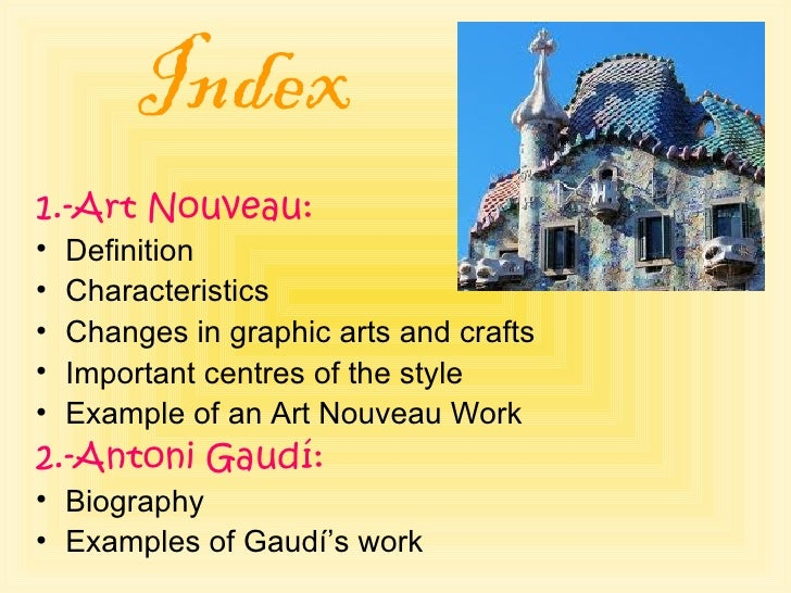 art nouveau and antoni gaudi