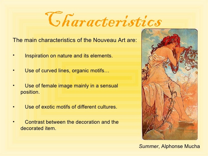 Characteristics Of Line In Art : Art nouveau and antoni gaudi