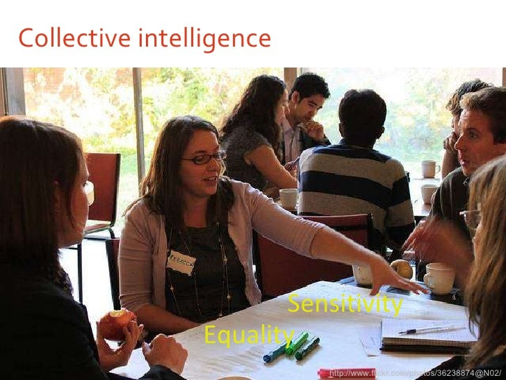 Collective intelligence <ul><li>Sensitivity </li></ul>http://www.flickr.com/photos/36238874@N02/ Equality