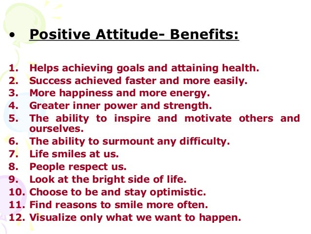 Image result for positive attitude benefits