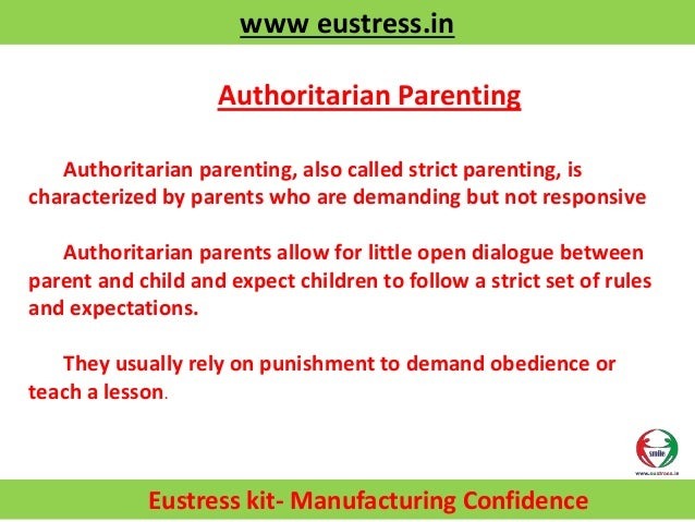 Art of Effective parenting- Eustress Nurture Foundation